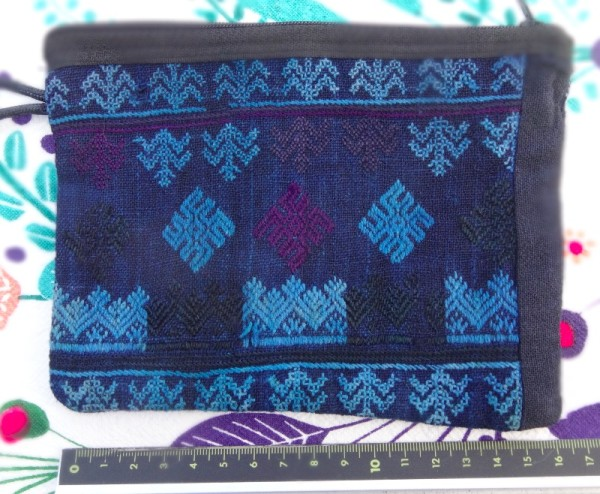 Red Dao zipped purse: side one