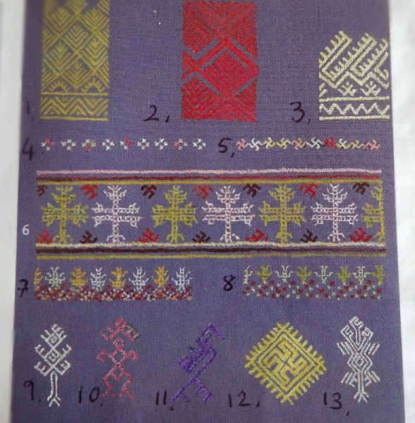 Some common Red Dao motifs (taken from Catherine Legrand's Textiles: A World Tour; T & H 2008)