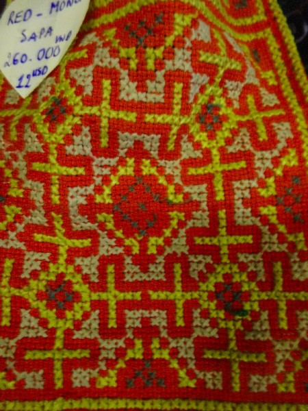Vietnamese embroidery by the Red Mong tribe