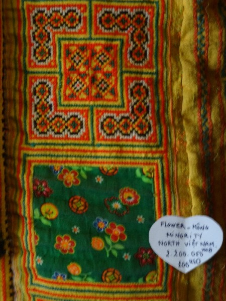 Vietnamese embroidery: bands of appliqué and embroidery by the Flower Mong people