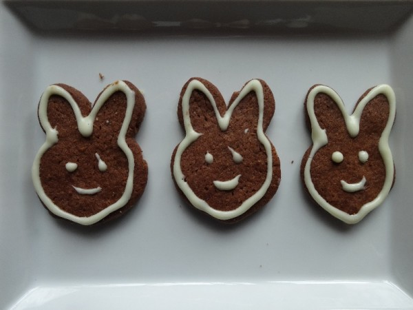 Bunny biscuits for Easter
