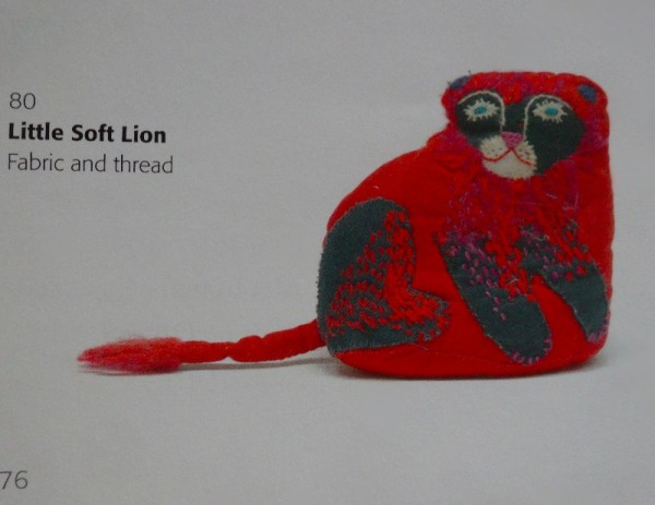 Mary Fedden: little soft lion (from Mary Fedden: Enigmas & Variations by Christopher Andreae: Lund Humphries); pbk 2014)