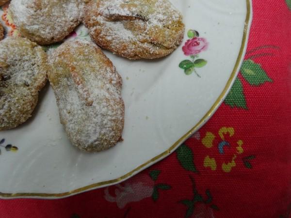 Sour cherry pistachio amaretti  (an Ottolenghi recipe from, I think The Cookbook)