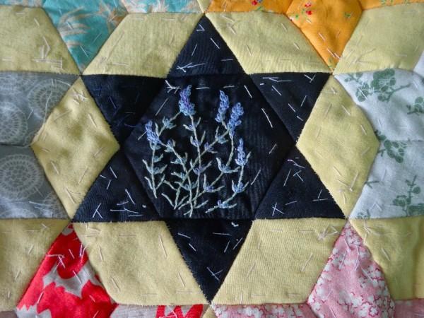 Ipsden altar frontal: lavender