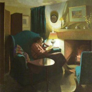 Gardiner, Gerald, 1902-1959; The Artist's Wife, Evelyn, Seated, Reading